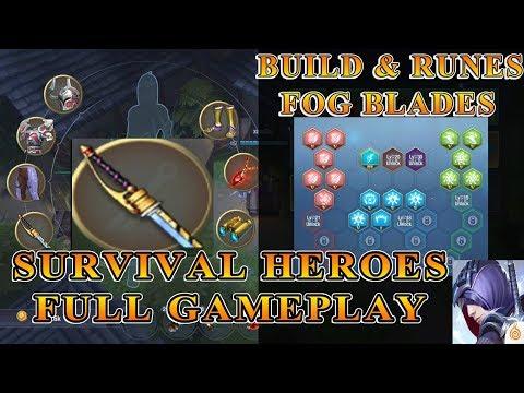 Build & Runes Fog Blades - Survival Heroes GOLD Tier Gameplay Indonesia