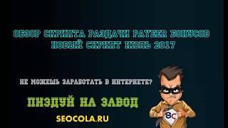 ОБЗОР  СКРИПТА РАЗДАЧИ PAYEER БОНУСОВ НОВЫЙ СКРИПТ ИЮЛЬ 2017