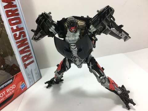 Transformers The Last Knight Deluxe Hot Rod Chefatron Toy Review