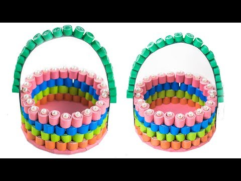 How To Make Decorative Quilled Basket | DIY Paper Basket | 3D Paper Quilling Basket