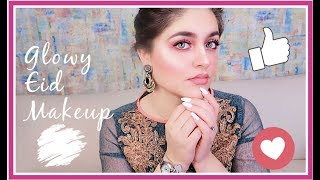 Glowy Eid Makeup Look and Outfit For Summers 2019 SUPER EASY BEGINNER MAKEUP