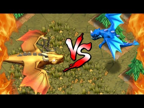 GIANT DRAGON vs ELECTRO DRAGON - NEW Dragon's Lair Goblin Map | Clash of Clans Update!