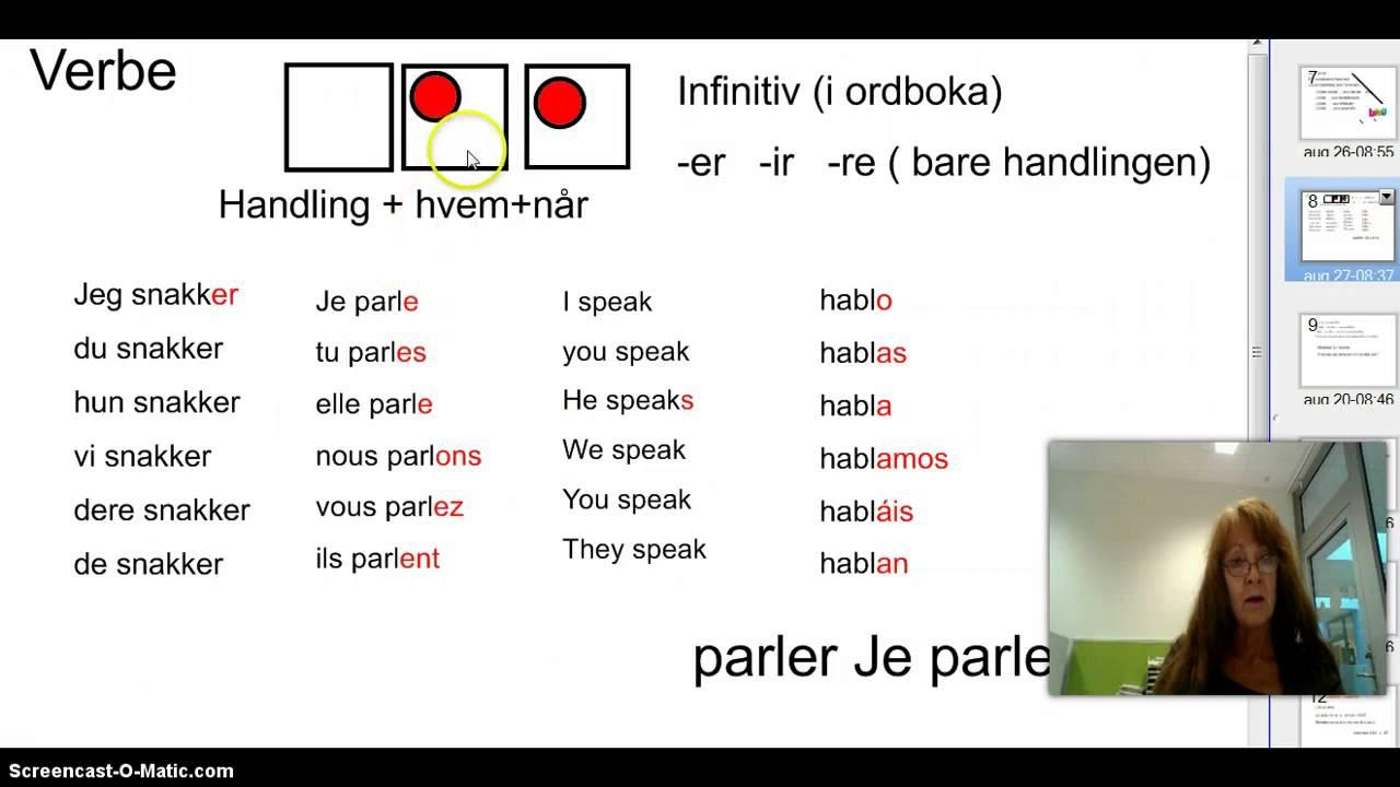 verb på fransk