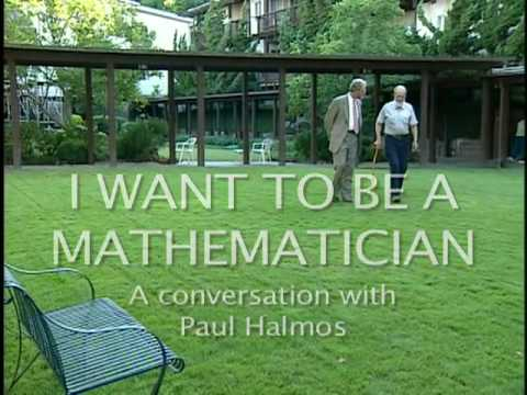 I Want to Be a Mathematician: A conversation with Paul Halmos - trailer