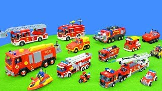 Fire Trucks & Fire Engine Unboxing: Fireman Sam, Lego, And Paw Patrol Cars | Great Toys Set For Kids