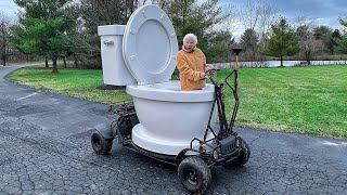 Grandma Built A Giant Driving Toilet | Ross Smith