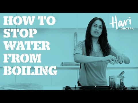 How to stop water boiling over
