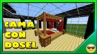Gambar cover Como hacer una Cama con dosel en Minecraft ~Construcciones en Minecraft~