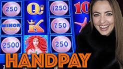 HANDPAY JACKPOT on MAGIC PEARL Lightning Link in Las Vegas!!