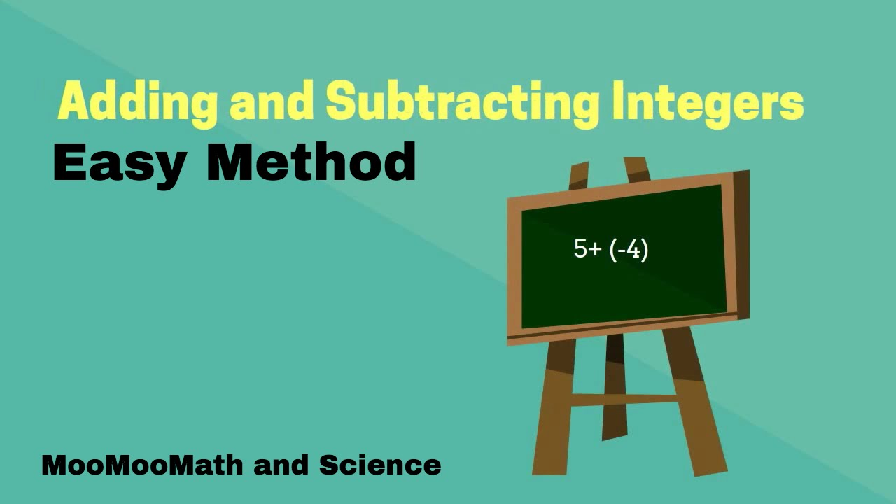 - Adding And Subtracting Integers- Easy Method - YouTube