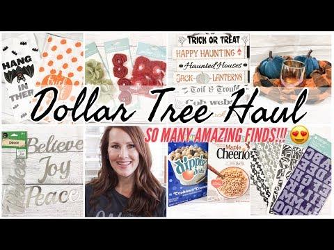 DOLLAR TREE HAUL   NEW DOLLAR STORE FINDS   FALL 2019 DOLLAR STORE HAUL