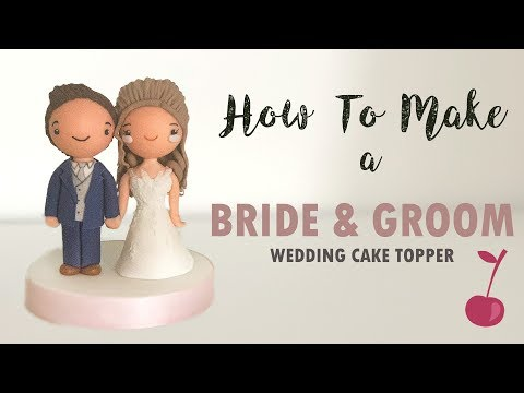 kawaii-bride-and-groom-wedding-cake-topper-tutorial-|-how-to-|-cherry-toppers