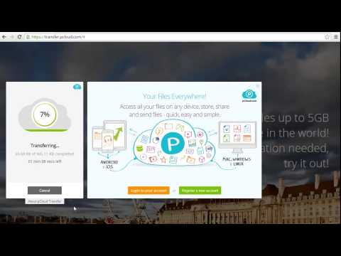Encrypted Big File Transfer with pCloud - YouTube