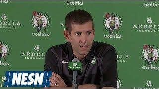 Brad Stevens 2018 Boston Celtics Media Day Press Conference