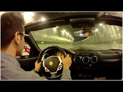 Ferrari F430 Spider Drive - Tunnel Exhaust Sound & Acceleration
