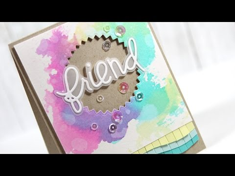 NEW Paper Smooches Die & More Watercolor Smooshing