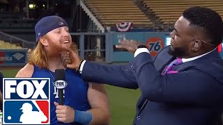 Justin Turner joins the FOX MLB Crew to talk World Series Game 1 | 2017 MLB Playoffs | FOX MLB