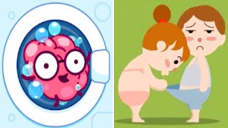 Brain Wash - Amazing Puzzle Game (SayGames) Android Gameplay Walkthrough All Levels 1-60 HD