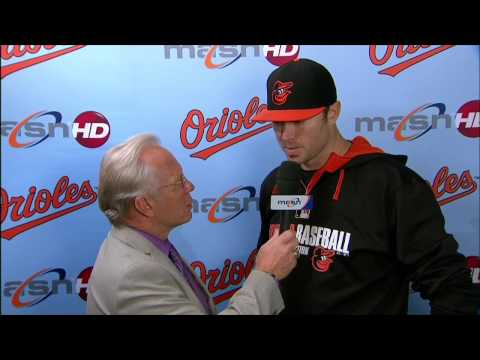Chris Tillman speaks after earning the win in Houston