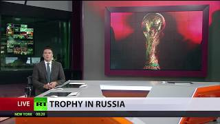 FIFA World Cup Trophy arrives in Russia ahead of 2018 tournament