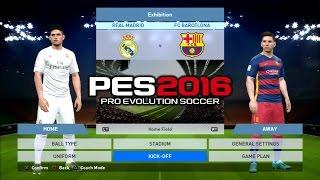 PES 2016 Real Madrid Vs Barcelona 1-1 PS3 HD