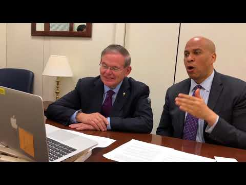 Menendez, Booker Rally NJans Against Offshore Drilling Ahead of Trenton Public Info Session