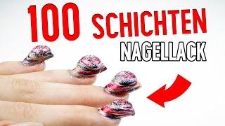 100 SCHICHTEN NAGELLACK - ES FUNKTIONIERT! | 100 coats of nail polish | XLAETA