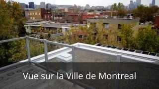 Penthouse Montreal - 3 Cac,, 2 Sdb, 3 Terrasses - Vue Sur La Ville