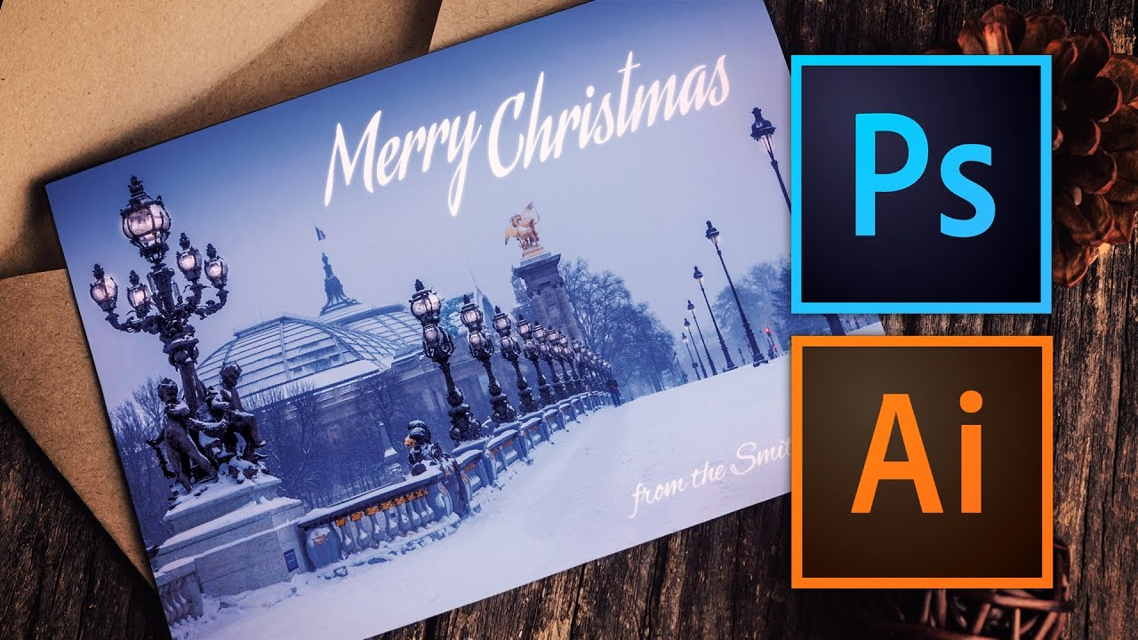 Christmas Card Making Ideas Youtube Part - 16: How To Make A Christmas Card With Photoshop Or Illustrator