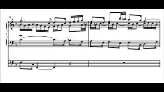 LETOCART - Fugue in d minor for organ, baroque french style