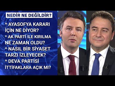 DEVA Partisi Genel Başkanı Ali Babacan Habertürk'te | Nedir Ne Değildir – 23 Temmuz 2020