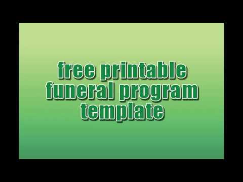 free printable funeral program template download youtube