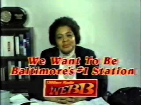 WEBB Radio (in Baltimore) ad from 1988