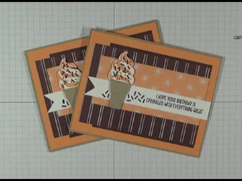 Stampin Up Cool Treats Online Class Project 3 Birthday Card Youtube