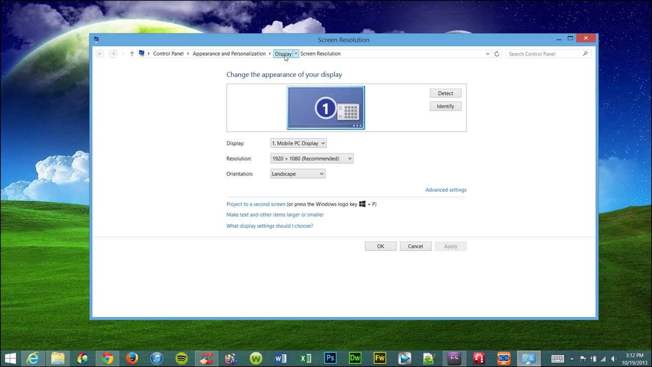 Fix Low Screen Resolution after updating to Windows 8 1