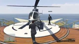 GTA V Safest thing to do on a Yacht with a Helicopter #2