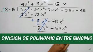 División de polinomios | Ejercicio resuelto | HD