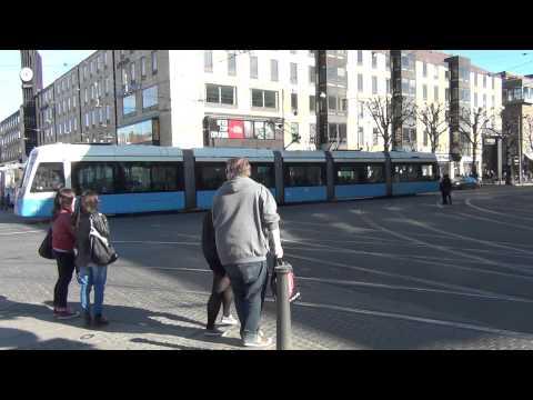 Busses and trams at Gothenburg / Bussar och spårvagnar i Göteborg