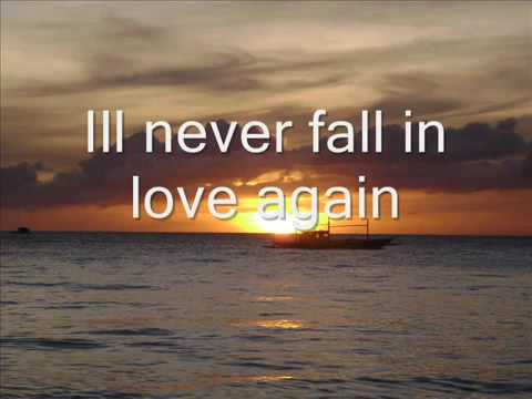 I'll never fall in love -