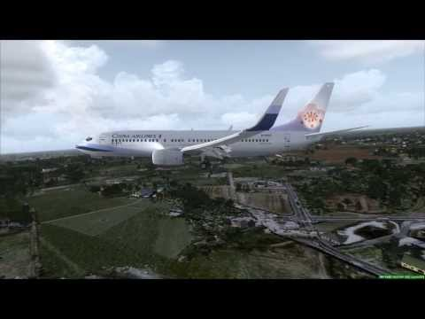 China Airlines 737-800 lands at Saigon