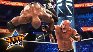Goldberg sends Bobby Lashley flying with powerful toss: SummerSlam 2021 (WWE Network Exclusive)