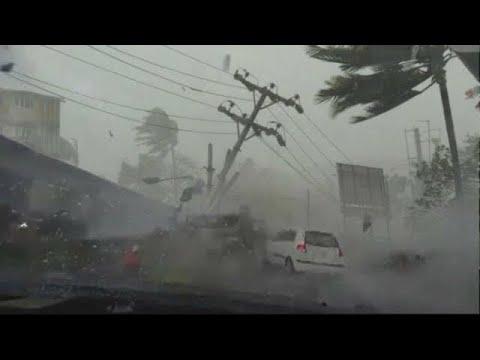 شاهد قوة هذه العاصفة الرهيبة والإعصار المخيف الذي دمر تورينو في إيطاليا