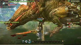 Monster Hunter Online - S Challenges Deviljho LongSword Gameplay