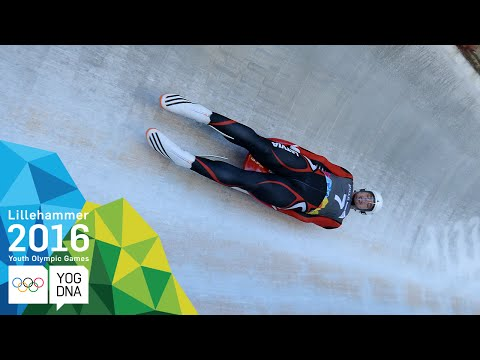 Luge - Kristers Aparjods (LAT) wins Men's gold   Lillehammer 2016 Youth Olympic Games
