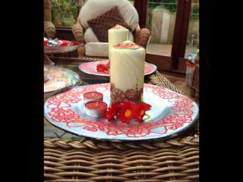 Diy Mehndi Plates : Henna candles mehendi plates personalise favours art youtube