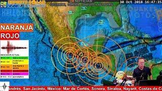 FUERTES SEIS(6)MOS GOLPEAN EL PACIFICO • REPORTE SOLAR SISMICO Y VOLCANICO OCT 30 2018