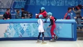 Олимпийские игры Сочи 2014 г.  шорт трек 500 м.