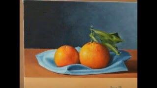 pintura al óleo tutorial: cómo pintar una naturaleza muerta con naranjas