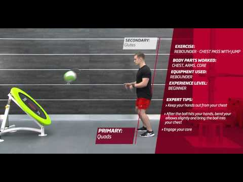 Fitness First Freestyle exercise - Rebounder Chest Pass with Jump - Medicine Ball