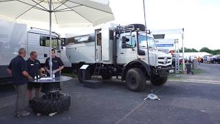 Mercedes Unimog expedition camper from Bocklet, Germany.